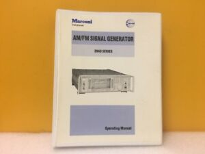 Marconi Am Fm Signal Generator 2040 Series Operating Manual