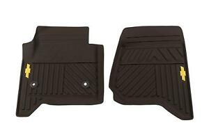 2014 2015 Chevrolet Silverado Front All Weather Cocoa Floor Mats New Oe 23452767
