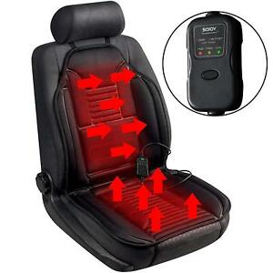New Heated Car Truck Seat Heater Cushion Warmer Temperature Timer Switch Black