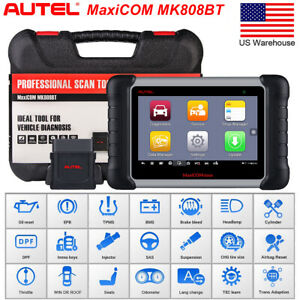 Autel Mk808bt Obd2 Bluetooth Diagnostic Tool Code Reader Scanner Abs Srs Sas