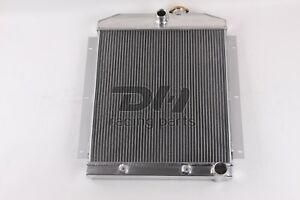 3 Row Aluminum Radiator Fit 1947 1954 Chevy 3100 3600 3800 Truck Pickup Polished