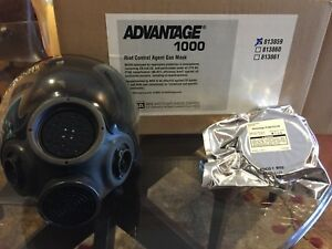 Msa Advantage 1000 Riot Control Gas Mask Medium Pn 813859