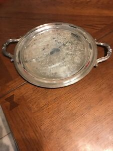 Fb Rogers Silver Co 2670 Handled Serving Platter Silver On Copper 12 1 2