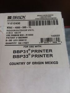 Brady Lable Tape Bbp 31 Bbp 33 Printer