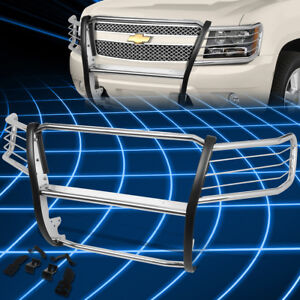 For 07 14 Suburban Tahoe Stainless Front Bumper Grille Brush Guard Replacement