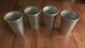 Galvanized Aluminum Sap Buckets 11 Lot Of 4