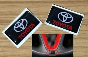 2pcs Car Steering Wheel Sticker Emblem Badge Logo Interior Fits For Toyota