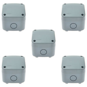 5pk Weatherproof Plastic Junction Box Electrical Enclosure Project Case Ip66 New