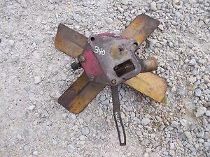 Farmall 340 Tractor Engine Motor Water Pump Assembly Fan Blade Pulley brack