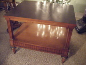 Antique Vtg Lane 2 Tier Sofa Side Wood End Stand Lamp Table Chinese Chippendale