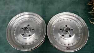 Vintage Centerline 15 X 3 1 2 Wheels 4 3 4 Bolt Chevy Front Runners Gasser