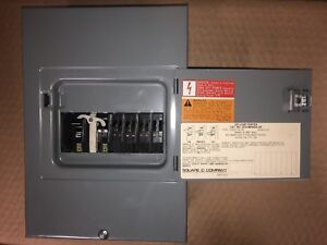 Square D Generator Switch Load Center with Breakers Qo4 8m30ds gp With Breakers