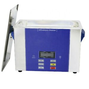 4l Digital Ultrasound Cleaner For Dental Cleaning Tools Timer Heater Lcd Display