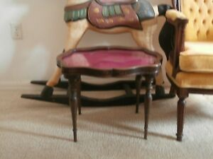 Vintage Antique Display Table 16 Wood W Glass Top