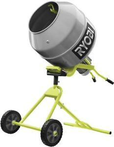 Ryobi Portable Concrete Mixer 5 0 Cu Ft 1 2 H Motor Tilting Pivoting Drum
