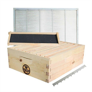 Goodland Bee Supply Super Box Kit Including 10 Wood Frames And 10 Pierco Plastic