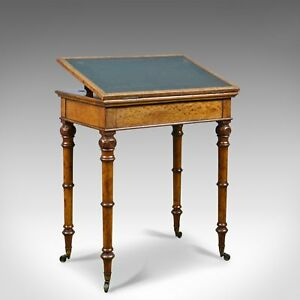 Antique Adjustable Writing Table English Oak Johnstone And Jeanes C 1850