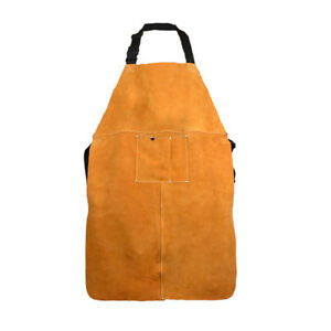 Cowhide Leather Welding Apron Soldering Protective Clothing Blacksmith W Pocket