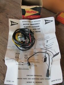Nos 1960 Dodge Truck Emergency Flasher Package Wiring Harness