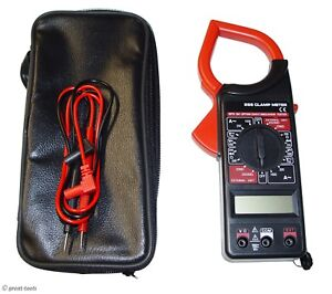 Digital Clamp Meter Clamp On Amp Meter Volt Ohm Amp Tester