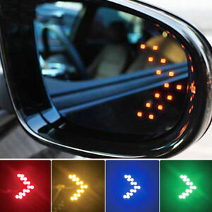 Pair 14smd Led Turn Signal Indicator Lights For Car Side Rear View Mirror Lamp