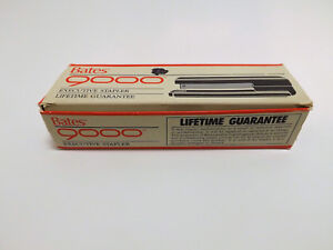 Vintage Bates Executive Stapler 9000 Black New Old Stock Made In Usa
