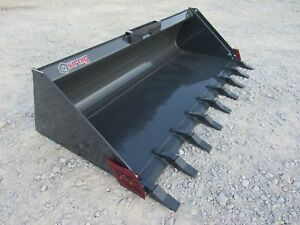 Bobcat Skid Steer Attachment Virnig 78 Low Profile Tooth Bucket Ship 199