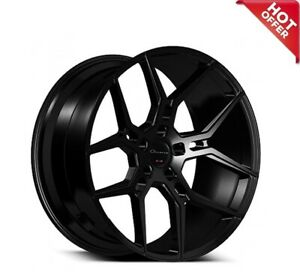 Set 4 new 22 Inch Staggered Giovanna Wheels Haleb Black Popular Rims