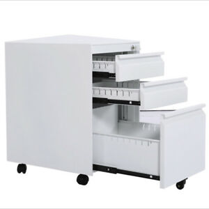 File Lock Metal Cabinet 3 Layers Hot Steel Pumping Activities Cabinet White