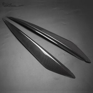 Real Carbon Fiber Eyebrow Eyelid Eye Lid Headlight For Mazda3 Mazda 3 2010 2013