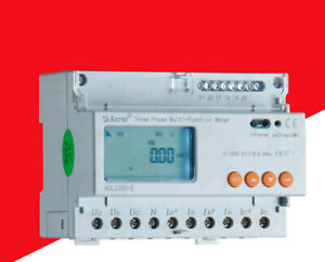 Adl3000 e Three phase Din Rail Multifunction 7 Moudules Kwh Energy Meter