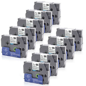 10pk Tz 241 Tze 241 Label Tapes P touch Compatible Brother 18mm 0 75 X 8m New