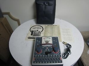 Vintage Superior Instruments Model Td 55 Tube Tester With Papers