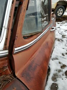 1954 Pontiac Chieftain 4dr Lh Drivers Front Door Upper Chrome Trim Molding