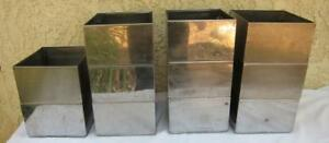 11 Stackable Stainless Steel Parts storage Bins Containers 7 X 8 5 X 4 75