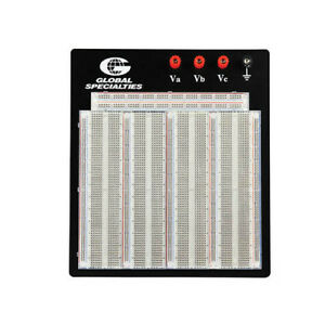 Global Specialties Pb 326t Transparent Proto board W 3220 Tie Points