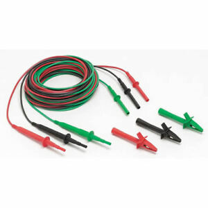 Fluke Tl1550b Test Lead Set W alligator Clips Red blk grn