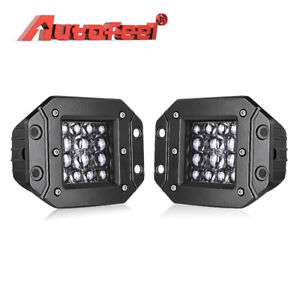 2x 4inch 400w Led Work Light Bar Spot Beam Pods Driving Off Road Tractor Ute 12v