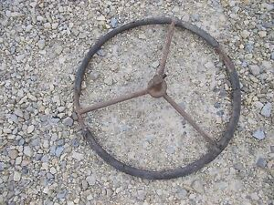 John Deere Electric Start Tractor Old Vintage Jd Hand Start Crank Steering Wheel