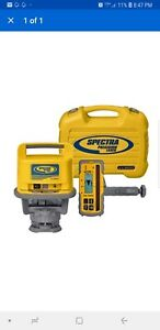 Spectra Precision Ll500 Rotary Laser Level W hl700 Receiver Hard Case
