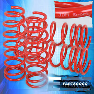 1994 2001 Civic Acura Integra Dc2 El Ls Rs Gs Red Lowering Spring 2 Drop Kit
