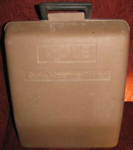 Vintage Dole Model 400 Grain Moisture Tester In Hard Case With Manual Free Ship
