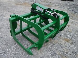 John Deere Compact Tractor Attachment 48 Root Rake Grapple Bucket Free Ship