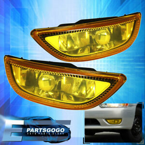 2001 2002 Corolla Amber Yellow Lens Fog Lights W Plug Harness Assembly Toyota