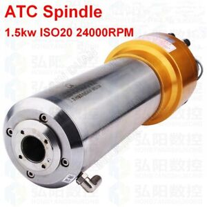 Atc Spindle Motor 1 5kw Iso20 24000rpm Ac220v 800hz Automatic Tool Changes Cnc