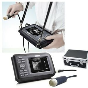 Us Professional Vet Ultrasound Scanner Machine Handscan Animal Veterinary Case