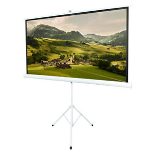 Hd 16 9 80 Tripod Projector Projection Screen 70 X 39 Hd Home Theatre Office