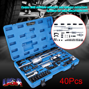 40pcs Diesel Injector Remover Puller Tool Universal Master Kit For Vw Bmw Ford