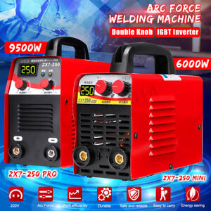 220v 6kw 9 5kw 10 250a Arc Force Electric Welding Machine Lcd Mma Igbt Inverter