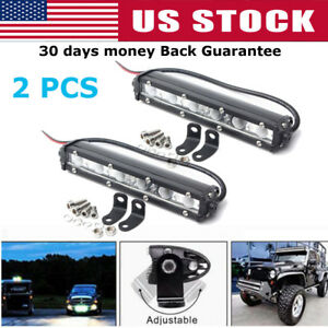 2x 7inch 18w Led Work Light Bar Spot Off Road Driving 4wd Lamp Atv Ute Truck